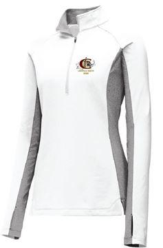 Picture of Sport-Tek® Ladies Sport-Wick® Stretch Contrast 1/2-Zip Pullover (LST854)